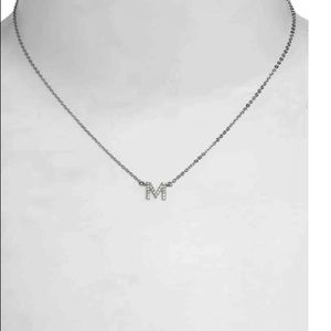 Nadri Delicate CZ Initial Pendant Necklace NWWT